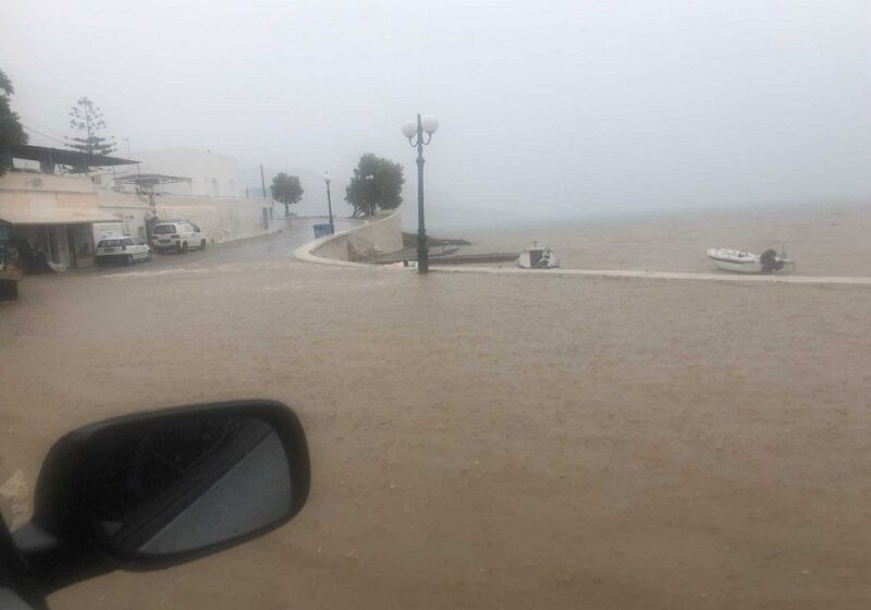 Σε κατάσταση έκτακτης ανάγκης ο δήμος Λέρου, μετά από την κακοκαιρία