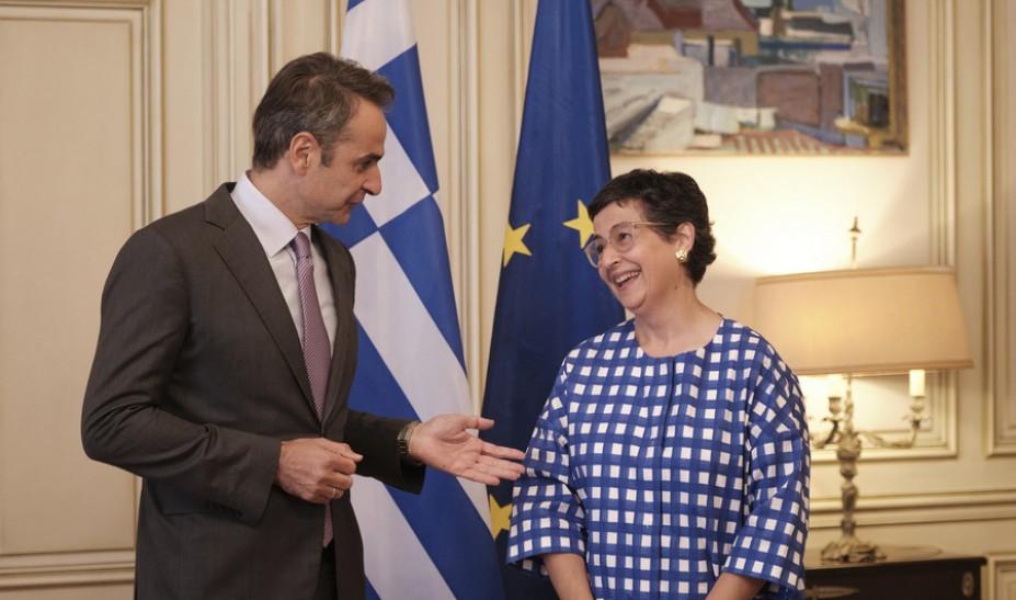 Τα ελληνοτουρκικά στη συνάντηση Μητσοτάκη με την Ισπανίδα ΥΠΕΞ