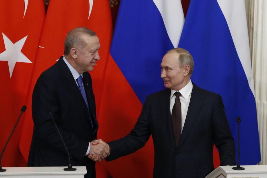 Αοριστίες από Πούτιν σε Ερντογάν για την Αγία Σοφία