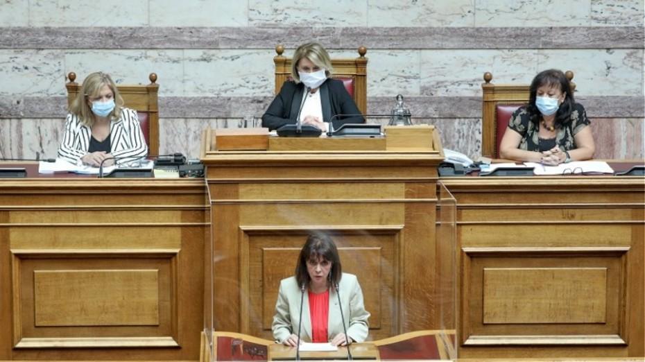 Η Σακελλαροπούλου στη Βουλή για την Παγκόσμια Ημέρα κατά της Εμπορίας Ανθρώπων
