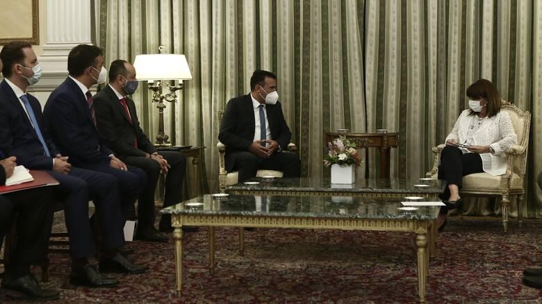 Η Συμφωνία των Πρεσπών στη συνάντηση Σακελλαροπούλου - Ζάεφ