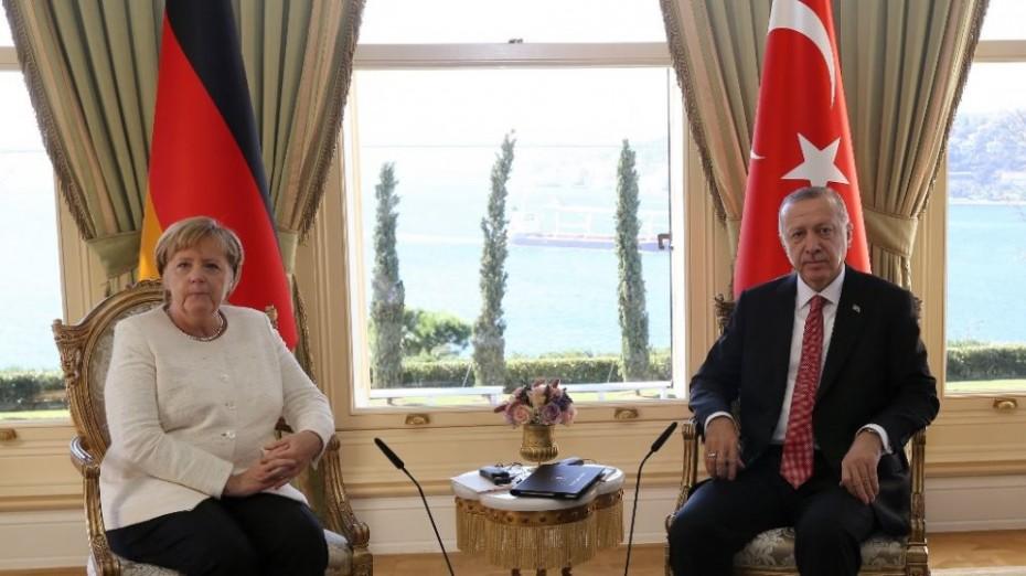 Νέα επικοινωνία Ερντογάν με Μέρκελ για την  Ανατ. Μεσόγειο