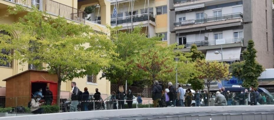 Βίντεο: Ουρές για «γρήγορο» τεστ στην Κοζάνη μετά το lockdown