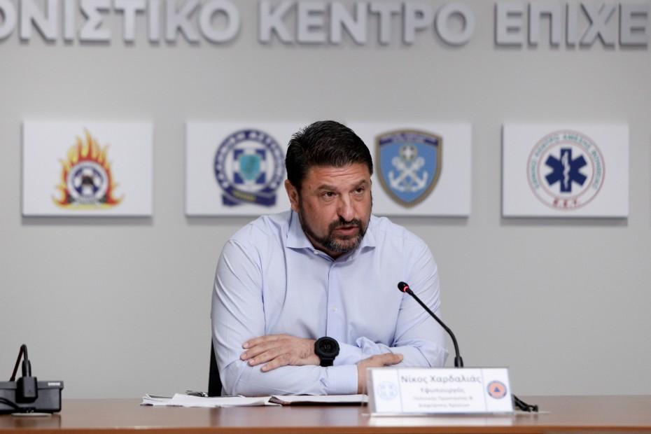 Ν. Χαρδαλιάς: Έκτακτη ενημέρωση σήμερα για Θεσσαλονίκη, Λάρισα και Ροδόπη
