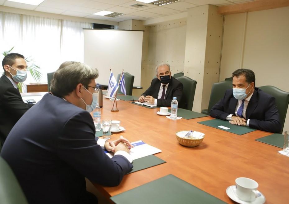Δέσμευση Γεωργιάδη για στενότερη οικονομική συνεργασία με το Ισράηλ