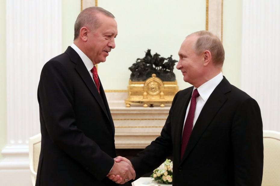 Επικοινωνία Ερντογάν - Πούτιν για το Ναγκόρνο Καραμπάχ