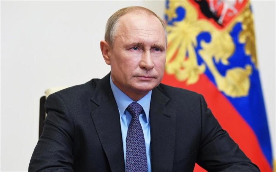 Πούτιν: Θέμα εσωτερικής ασφάλειας η διευθέτηση της κρίσης στο Καραμπάχ