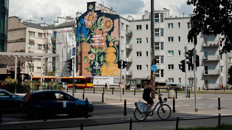 Τοιχογραφία στη Βαρσοβία συμβάλλει στην ποιότητα του αέρα