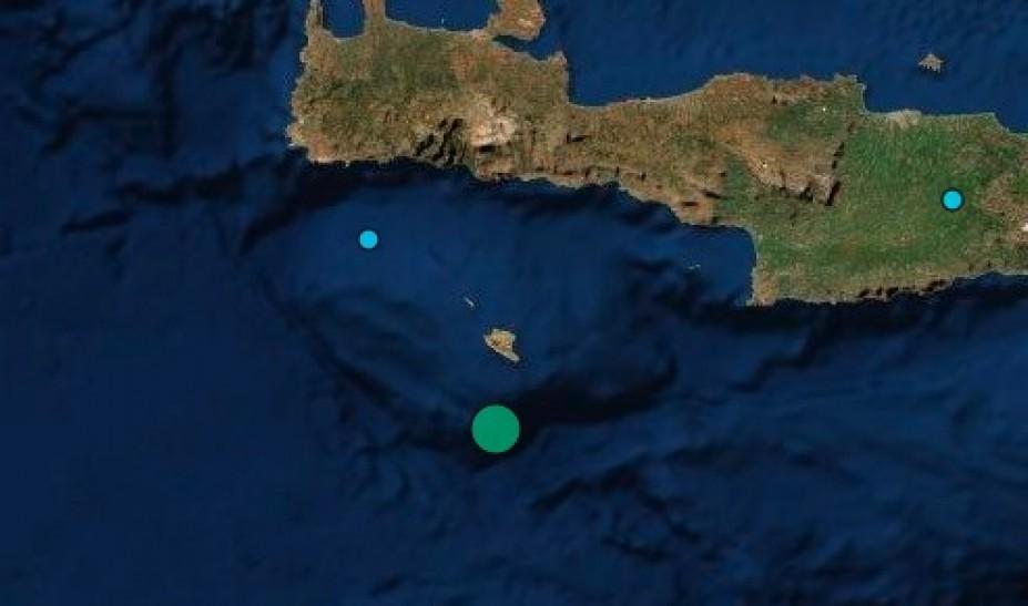 Σεισμός 4,8 Ρίχτερ στα νότια της Κρήτης