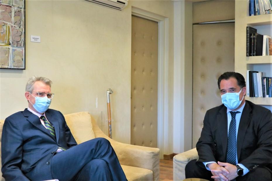 Νέα επαφή Γεωργιάδη με Πάιατ για αμερικανικές επενδύσεις στην Ελλάδα