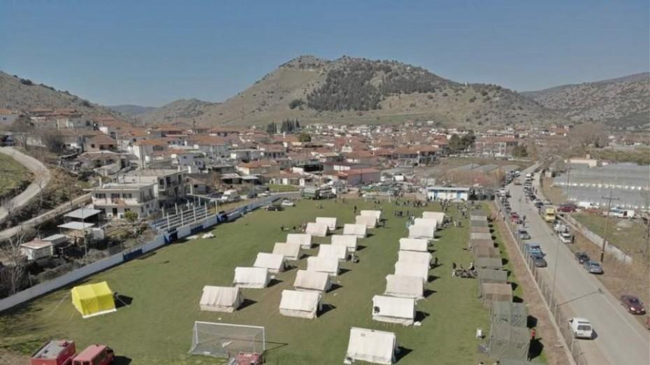 Σεισμός - Ελασσόνα: Στο στρατόπεδο «ΣΧΟΙΝΑ» το δημοτικό σχολείο Δαμασίου