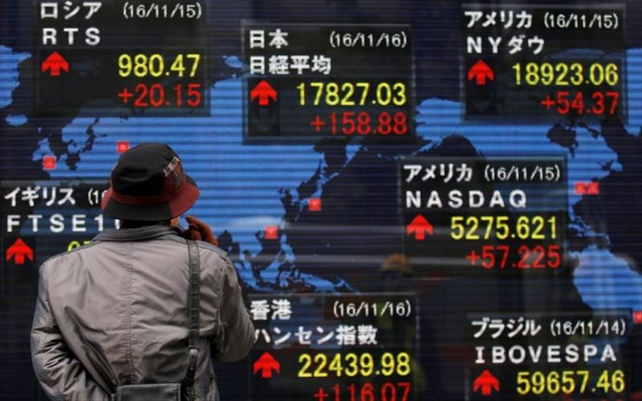 Ασιατικές αγορές: Μοιρασμένα πρόσημα, «βουτιά» στο Τόκιο
