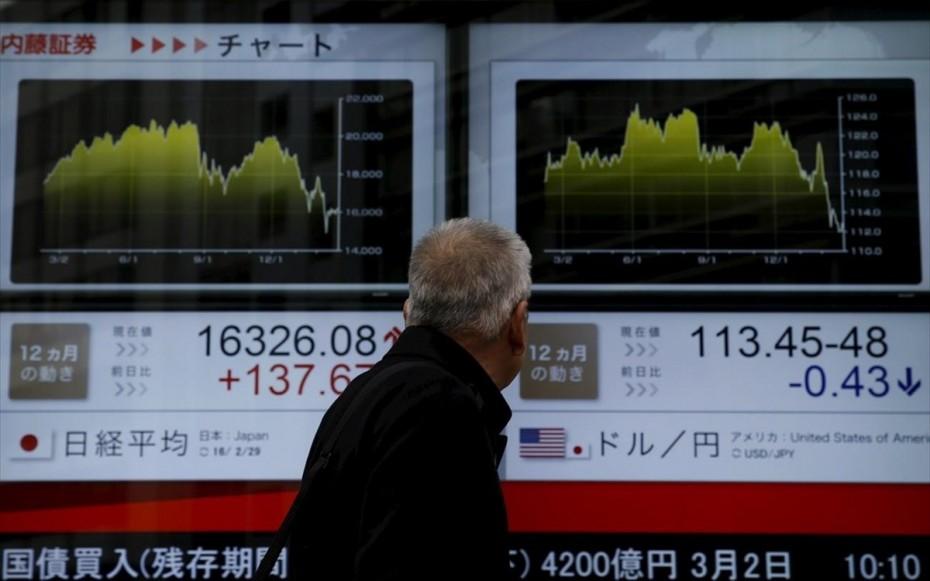 Ανοδικά η Ασία με «σκυτάλη» από S&P 500